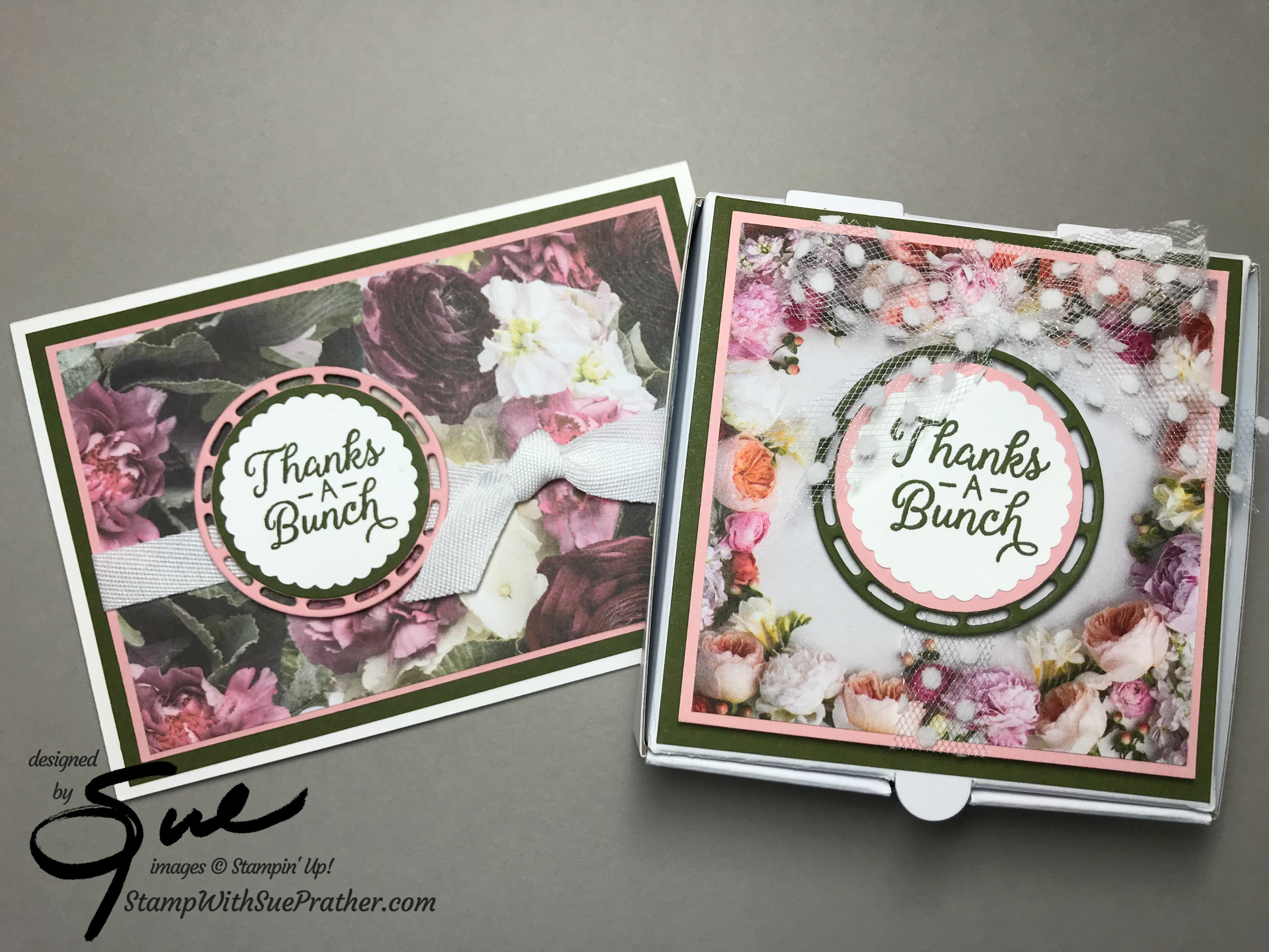 Stampin Up Beautiful Bouquet Thanks For Simply Stampin Sunday Stamp With Sue Prather