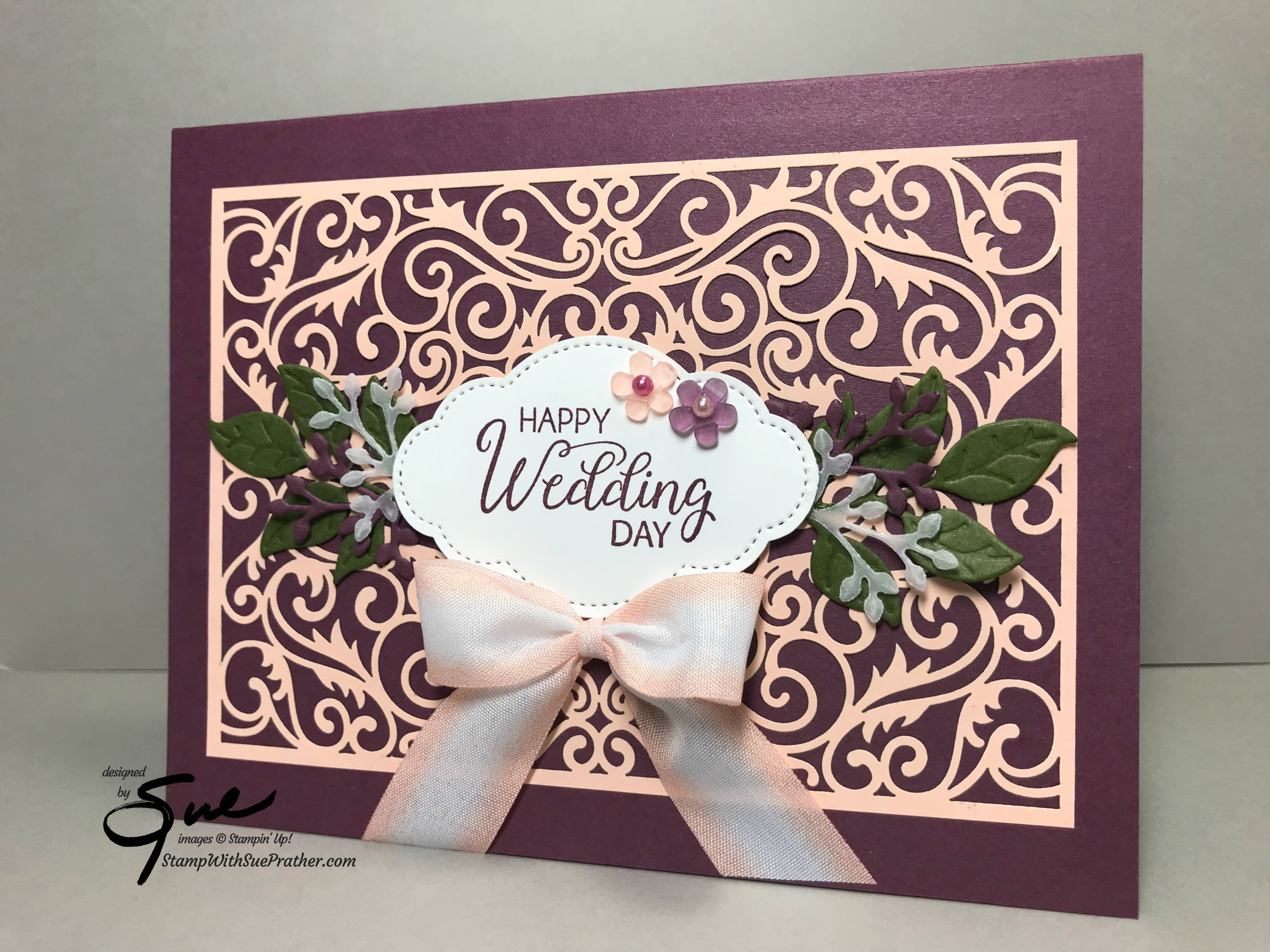 Stampin Up Beautiful Bouquet Wedding Day For The Happy Inkin Thursday Blog Hop Stamp With Sue Prather