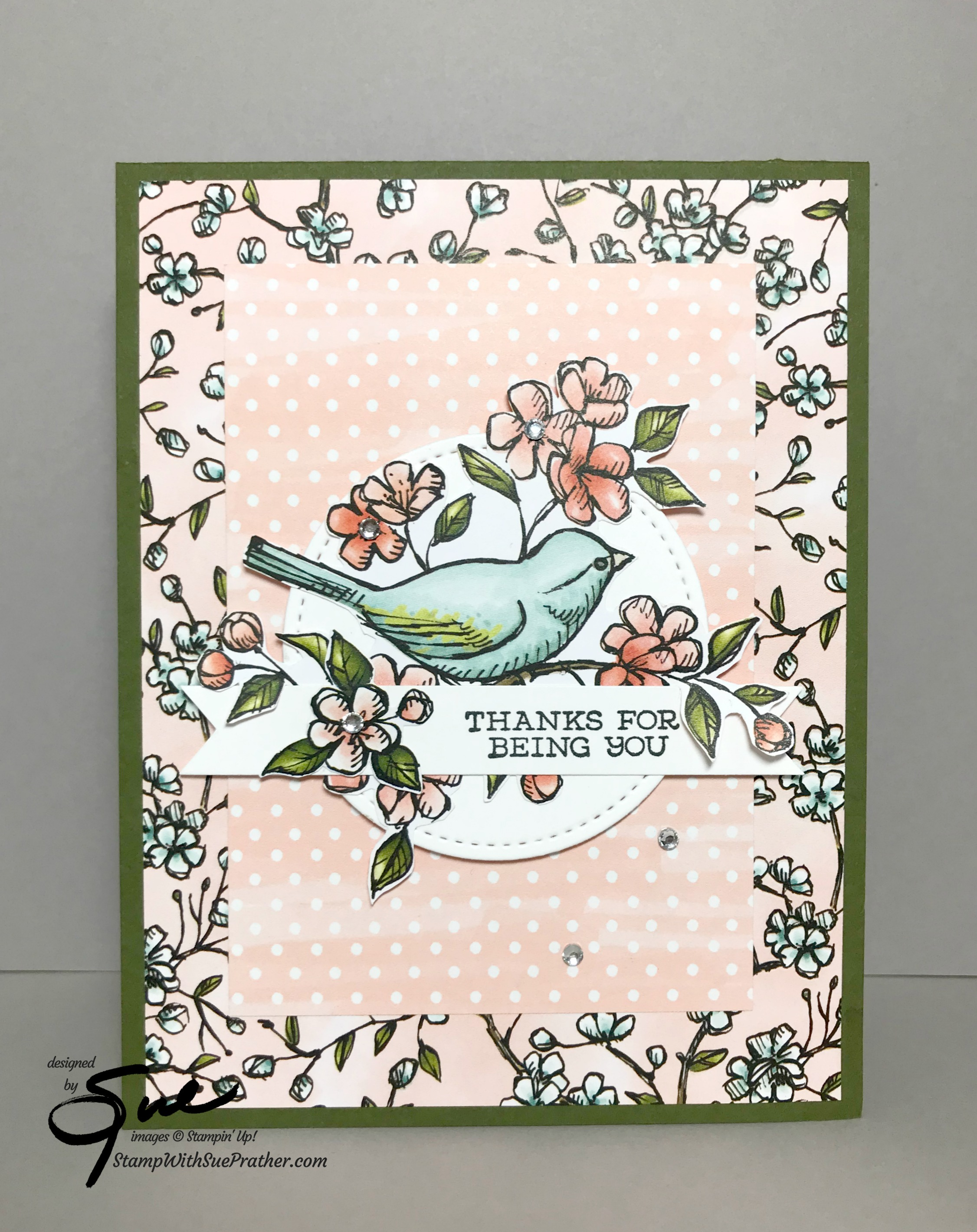 Stampin' Up! Free As A Bird Thanks for the Happy Inkin' Thursday